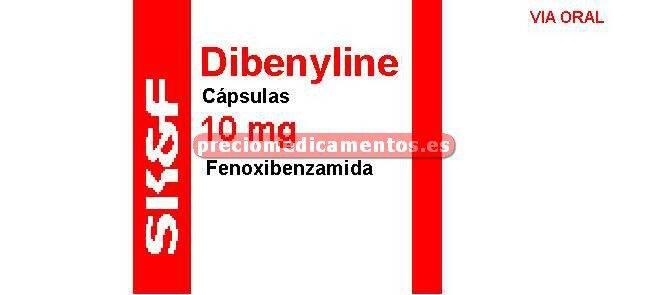 Caja DIBENYLINE 10 mg cápsulas