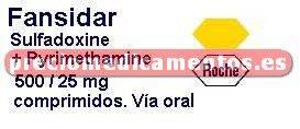 Caja FANSIDAR 500/25 mg 10 comprimidos