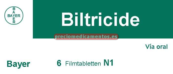 Caja BILTRICIDE 600 mg 6 tabletas