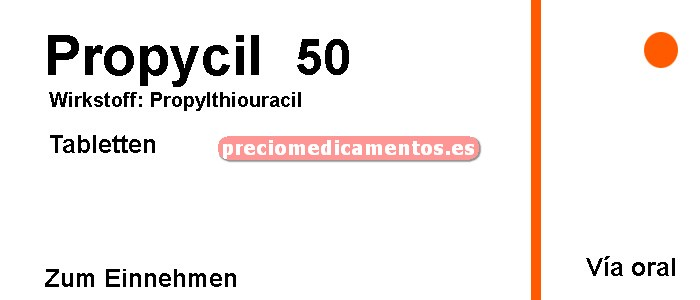 Caja PROPYCIL 50 mg 100 comprimidos