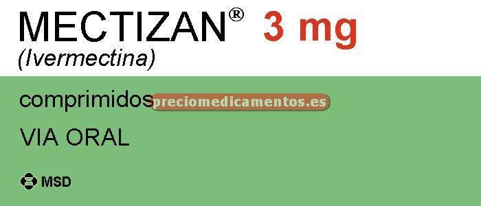 Caja MECTIZAN 3 mg 4 comprimidos