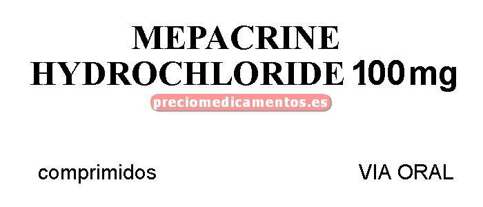 Caja MEPACRINE 100 mg 100 comprimidos