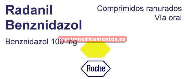 Caja RADANIL 100 mg comprimidos