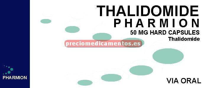 Caja THALIDOMIDE PHARMION 50 mg 28 cápsulas duras