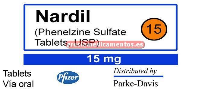 Caja NARDIL 15 mg 100 tabletas