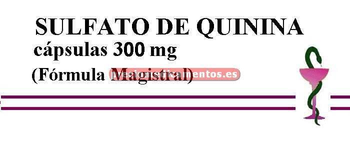 Caja SULFATO DE QUININA cápsulas 300 mg (F. Magistral)