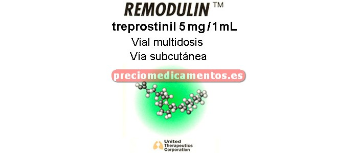 Caja REMODULIN 5 mg/ml vial multidosis 20 ml