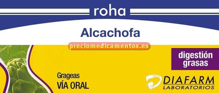 Caja ROHA ALCACHOFA 400 mg 60 comprimidos recubiertos