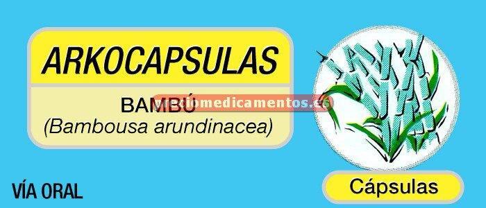 Caja BAMBÚ ARKOCAPSULAS 265 mg 50 cápsulas