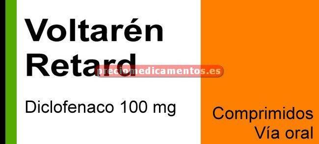 Caja VOLTAREN RETARD 100 mg 500 comprimidos liberación modificada