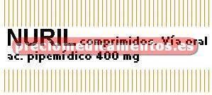 Caja NURIL 400 mg 500 cápsulas
