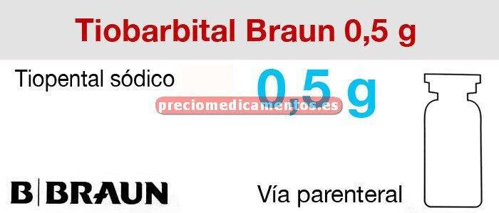 Caja TIOBARBITAL BRAUN 0,5 g 50 viales 10 ml