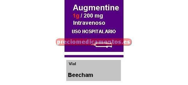 Caja AUGMENTINE 1 g/200 mg 100 viales