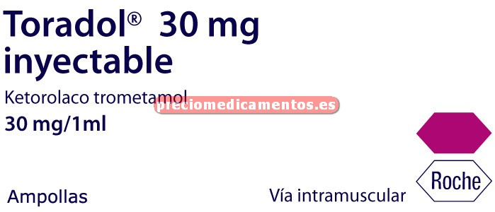 Caja TORADOL 30 mg 100 ampollas 1 ml