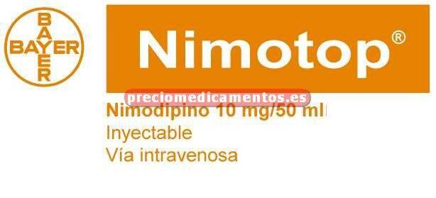 Caja NIMOTOP 0.2 mg/ml infus IV 20 frascos 50 ml