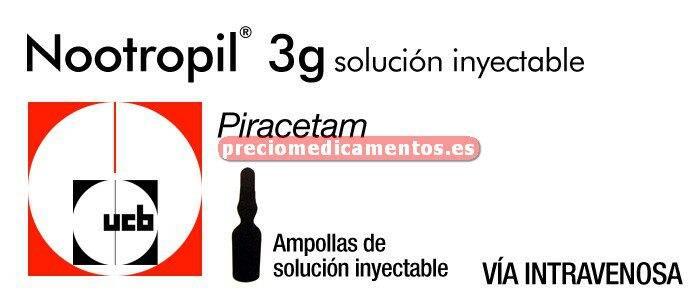 Caja NOOTROPIL 3 g 50 ampollas 15 ml