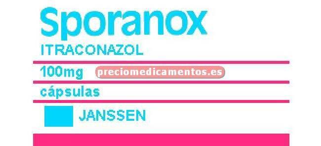 Caja SPORANOX 100 mg 100 cápsulas