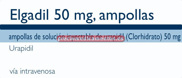 Caja ELGADIL 50 mg 50 ampollas 10 ml