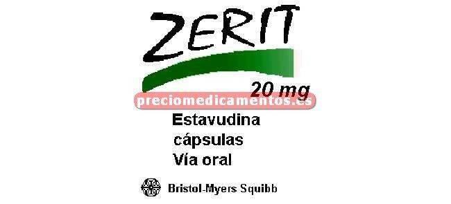 Caja ZERIT 20 mg 448 cápsulas