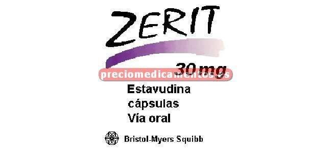 Caja ZERIT 30 mg 448 cápsulas