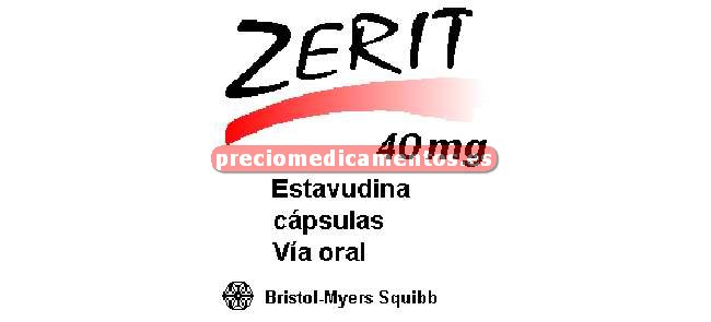 Caja ZERIT 40 mg 448 cápsulas