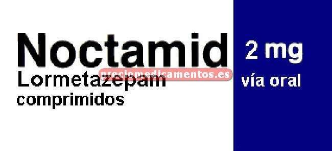 Caja NOCTAMID 2 mg 20 comprimidos