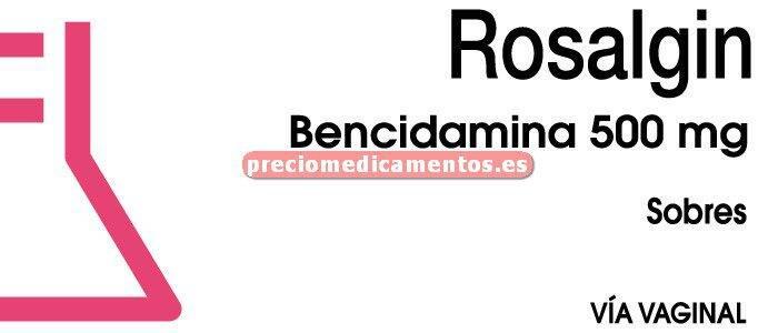 Caja ROSALGIN 500 mg 20 sobres