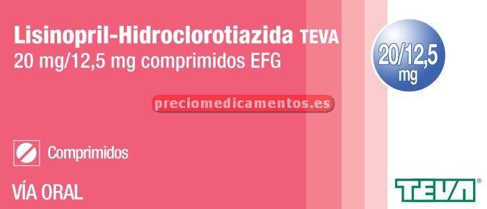 Caja LISINOPRIL/HCTZ TEVA EFG 20/12,5 mg 28 compr
