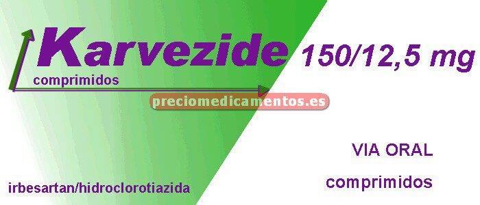 Caja KARVEZIDE 150/12,5 mg 28 comprimidos cub pelicular