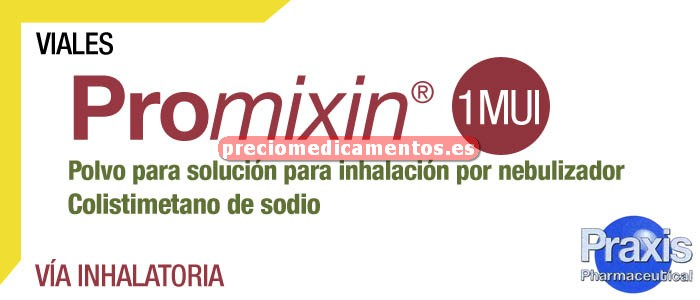Caja PROMIXIN 1 MUI 30 viales polvo inhalac nebulizador