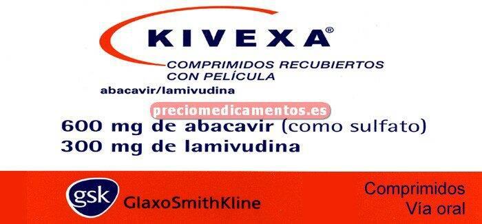 Caja KIVEXA 600/300 mg 30 comprimidos cubierta pelic