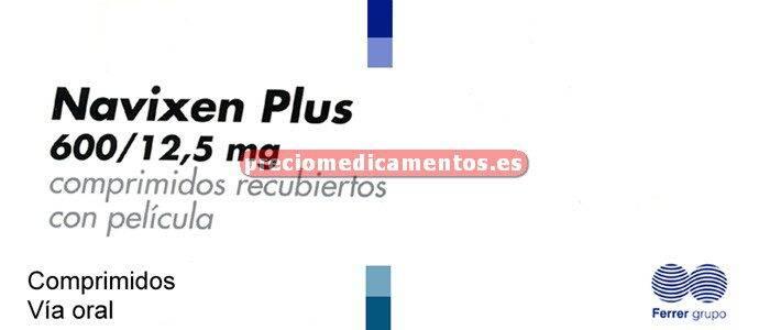 Caja NAVIXEN PLUS 600/12,5 mg 28 comprimidos recub
