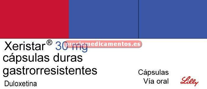 Caja XERISTAR 30 mg 28 cápsulas gastrorresistentes