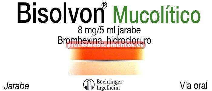 Caja BISOLVON MUCOLITICO 8 mg/5 ml jarabe 200 ml
