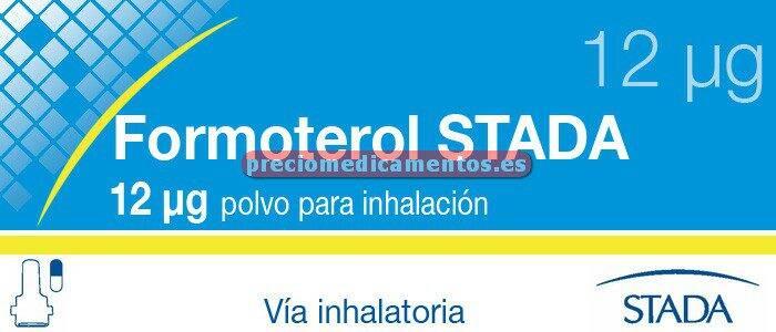 Caja FORMOTEROL STADA 12 mcg 60 cáps inhal+inhalador