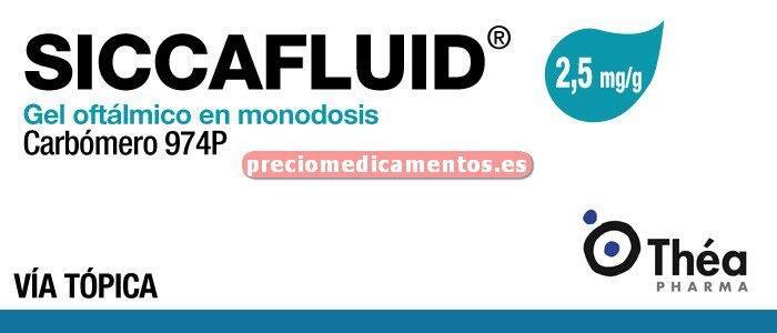 Caja SICCAFLUID 2,5 mg/g gel oftálmico 30 monodosis