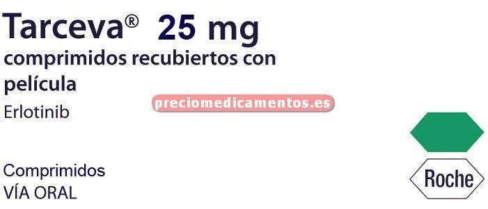 Caja TARCEVA 25 mg 30 comprimidos recubiertos