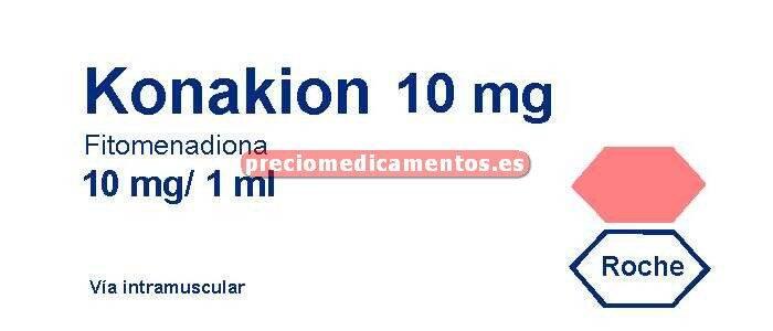 Caja KONAKION 10 mg 5 ampollas 1 ml oral/iny