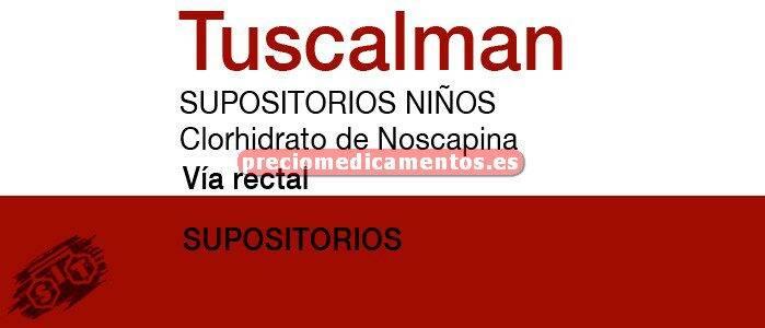 Caja TUSCALMAN BERNA INFANTIL 15 mg 20 supositorios