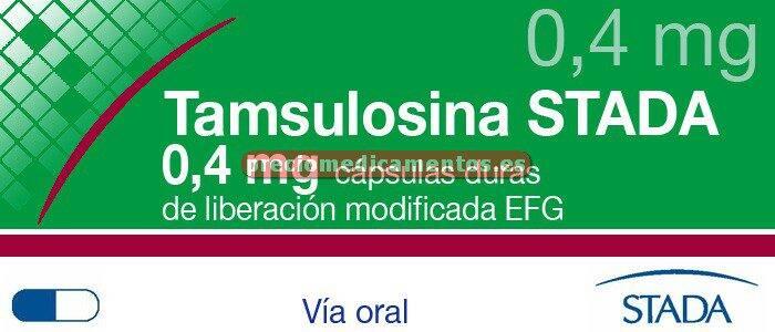 Caja TAMSULOSINA STADA EFG 0,4 mg 30 cápsulas lib mod