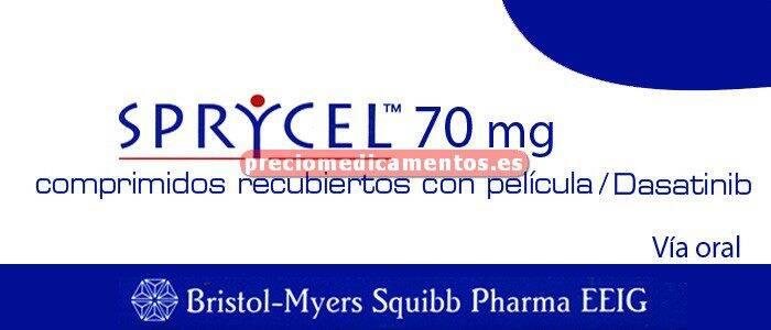 Caja SPRYCEL 70 mg 56 comprimidos recubiertos