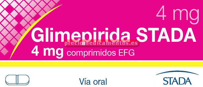 Caja GLIMEPIRIDA STADA EFG 4 mg 30 comprimidos