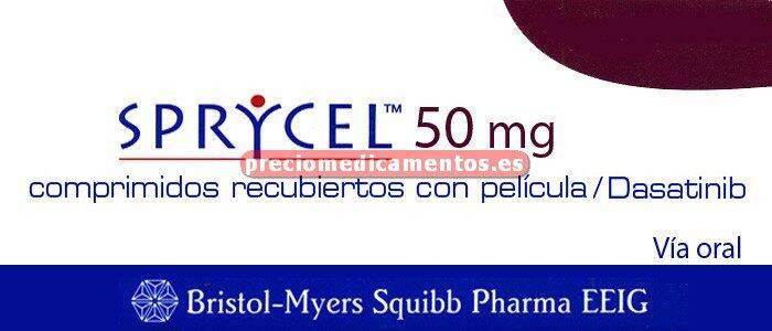 Caja SPRYCEL 50 mg 56 comprimidos recubiertos