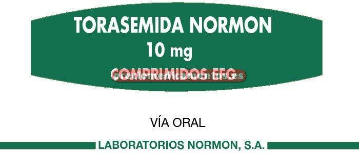 Caja TORASEMIDA NORMON EFG 10 mg 30 comprimidos