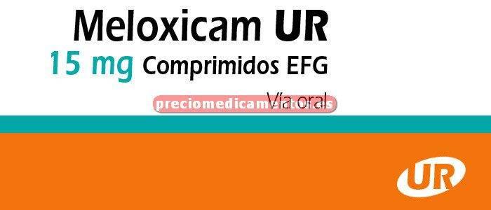 Caja MELOXICAM UR EFG 15 mg 20 comprimidos