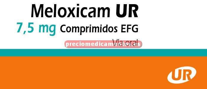 Caja MELOXICAM UR EFG 7.5 mg 20 comprimidos
