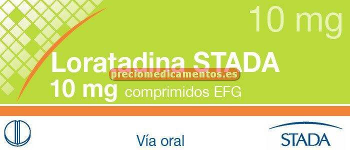 Caja LORATADINA STADA EFG 10 mg 20 comprimidos recub