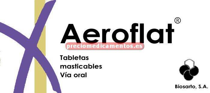 Caja AEROFLAT 5/77,5 mg 40 comprimidos masticables