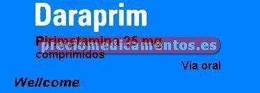 Caja DARAPRIM 25 mg 30 comprimidos