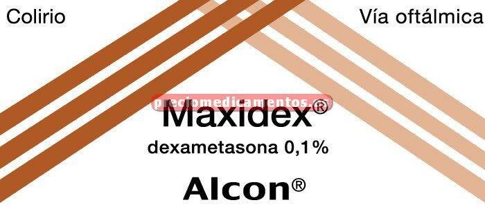 Caja MAXIDEX 0.1% colirio suspensión 5 ml